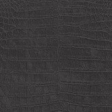 Albany Crocodile Pattern Black Wallpaper