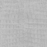 Albany Crocodile Pattern Metallic Silver Wallpaper