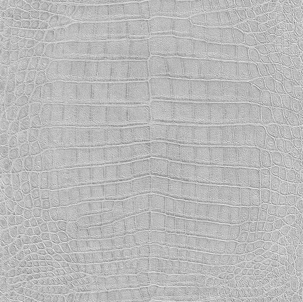 Albany Crocodile Pattern Metallic Silver Wallpaper - Product code: 474145