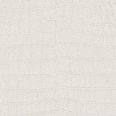 Albany Crocodile Pattern Metallic White Wallpaper