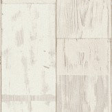 Albany Distressed Planks Off White Wallpaper