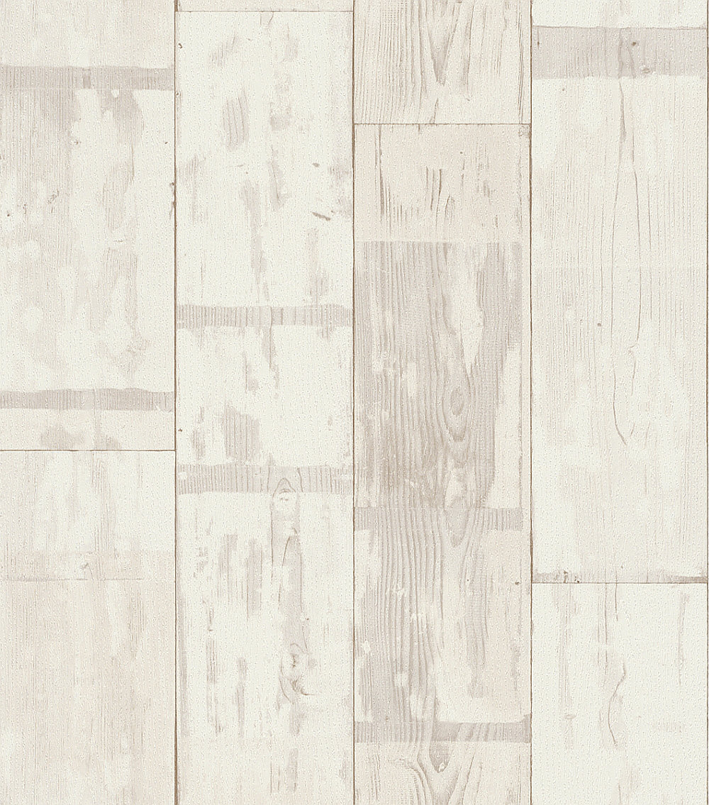 Albany Distressed Planks Off White Wallpaper - Product code: 587104