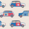Jane Churchill Pop Cars Blue / Red Wallpaper