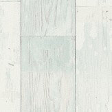 Albany Distressed Planks Duck Egg and White Wallpaper