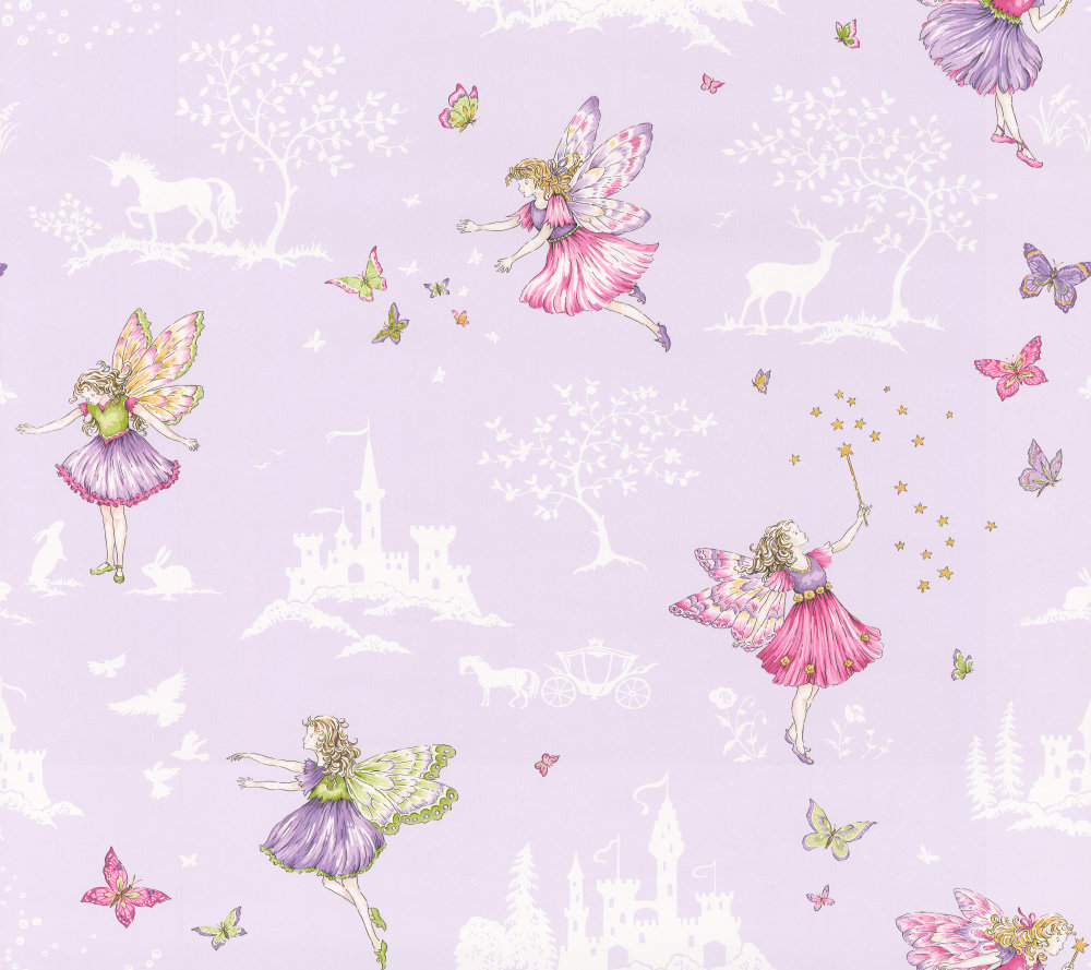 Jane Churchill Fairyland Lilac Wallpaper main image