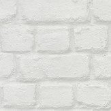 Albany Metallic Brick White Wallpaper