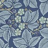 Morris Bramble Indigo Wallpaper