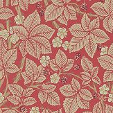 Morris Bramble Red Wallpaper