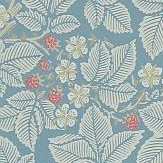 Morris Bramble Pale Blue Wallpaper