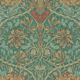 Morris Honeysuckle and Tulip Emerald / Russet Wallpaper - Product code: 214704