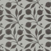 Morris Rosehip Black Wallpaper