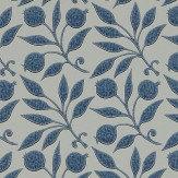 Morris Rosehip Indigo Wallpaper