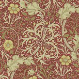 Morris Morris Seaweed Red / Gold Wallpaper
