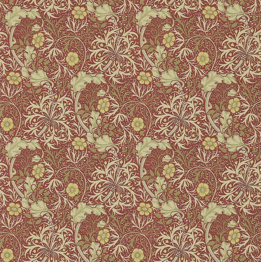 Morris Morris Seaweed Red / Gold Wallpaper - Product code: 214712