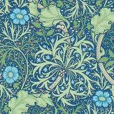 Morris Morris Seaweed Cobalt / Thyme Wallpaper - Product code: 214713