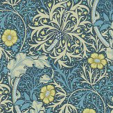 Morris Morris Seaweed Ink / Woad Wallpaper