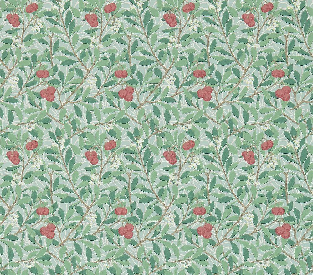Morris Arbutus Thyme / Coral Wallpaper - Product code: 214719