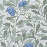 Morris Arbutus Silver / Cobalt Wallpaper
