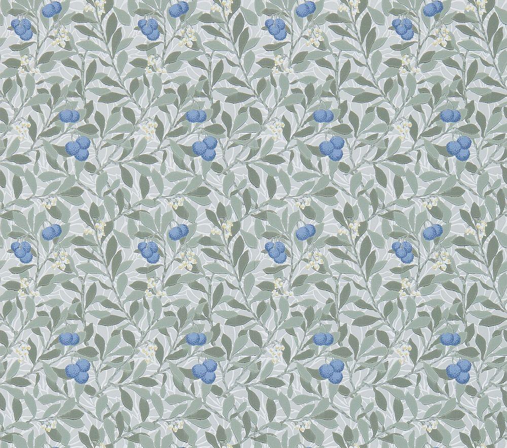 Morris Arbutus Silver / Cobalt Wallpaper main image