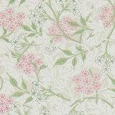 Morris Jasmine Blossom Pink / Sage Wallpaper