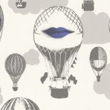 Caselio Air Balloon Purple Wallpaper