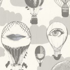 Caselio Air Balloon Grey Wallpaper