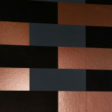 Erica Wakerly Block  Copper Burnish / Grey / Black Wallpaper
