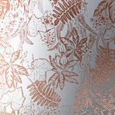 Erica Wakerly Hothouse Copper Rose / White Wallpaper