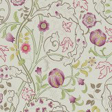 Morris Mary Isobel Wine / Linen Wallpaper