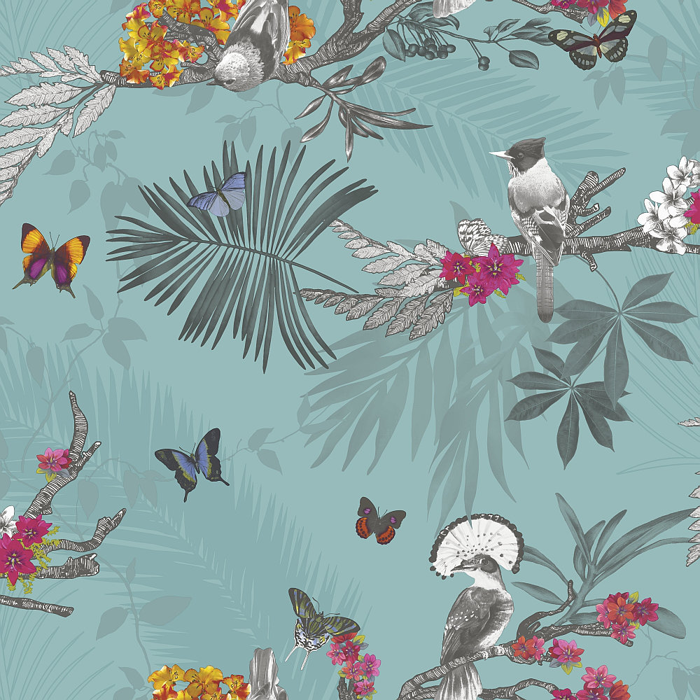 mystical forest by arthouse teal wallpaper direct
