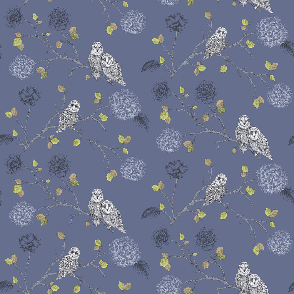 Arthouse Night Owl Midnight Blue Wallpaper - Product code: 665002