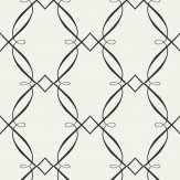Today Interiors Ornate Trellis Black / White Wallpaper