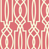 Today Interiors Horizontal Trellis Fuchsia Wallpaper