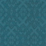 Today Interiors Etched Flower Teal Wallpaper