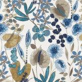 Harlequin Nalina Indigo/Mustard/Stone Fabric