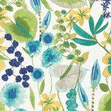 Harlequin Nalina Zest/Lagoon/Gooseberry Fabric