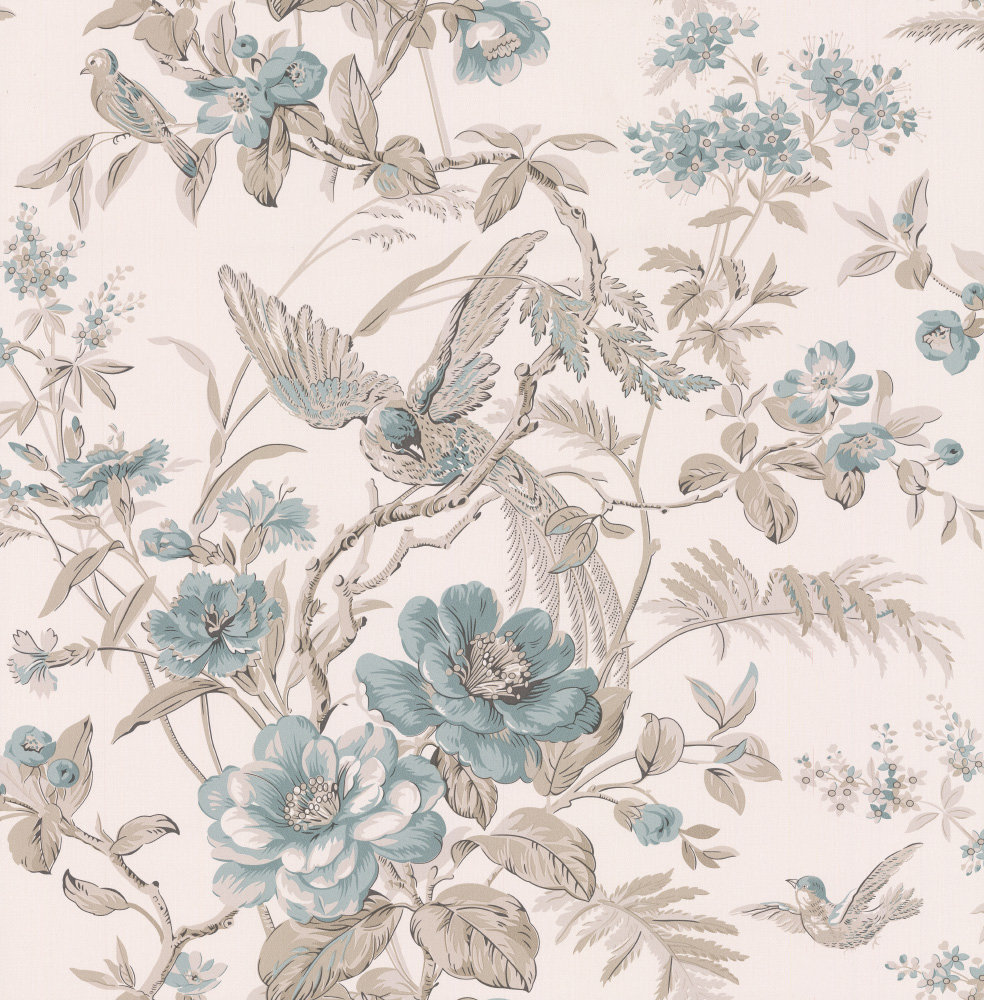 Albany Bird of Paradise Duck Egg Wallpaper - Product code: 21530