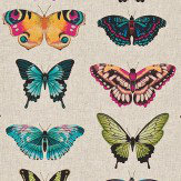 Harlequin Papilio Flamingo/Papaya/Loganberry Fabric