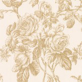 Albany Rose Trail Metallic Gold Wallpaper