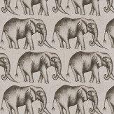 Harlequin Savanna Elephant Grey Fabric