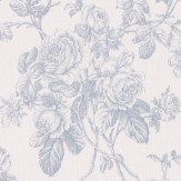 Albany Rose Trail Blue Wallpaper