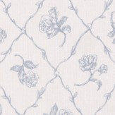 Albany Rose Trail Trellis Blue Wallpaper