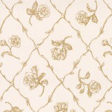 Albany Rose Trail Trellis Metallic Gold Wallpaper