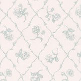 Albany Rose Trail Trellis Blue Wallpaper - Product code: 21505