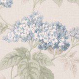 Albany Elderflower Blue Wallpaper