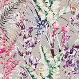 Harlequin Paradise Loganberry/Raspberry/Emerald Fabric