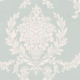 Albany Trailing Damask Duck Egg Wallpaper