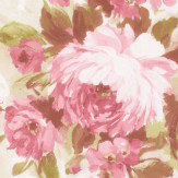 Albany Flower Damask Pink Wallpaper