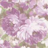 Albany Flower Damask Purple Wallpaper