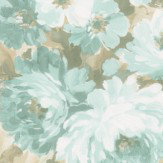 Albany Flower Damask Blue Wallpaper